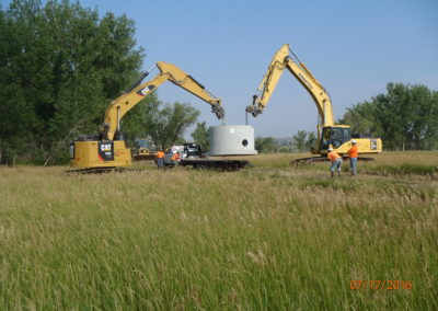 Wastewater Improvements Drilled Force Main Under Yellowstone River